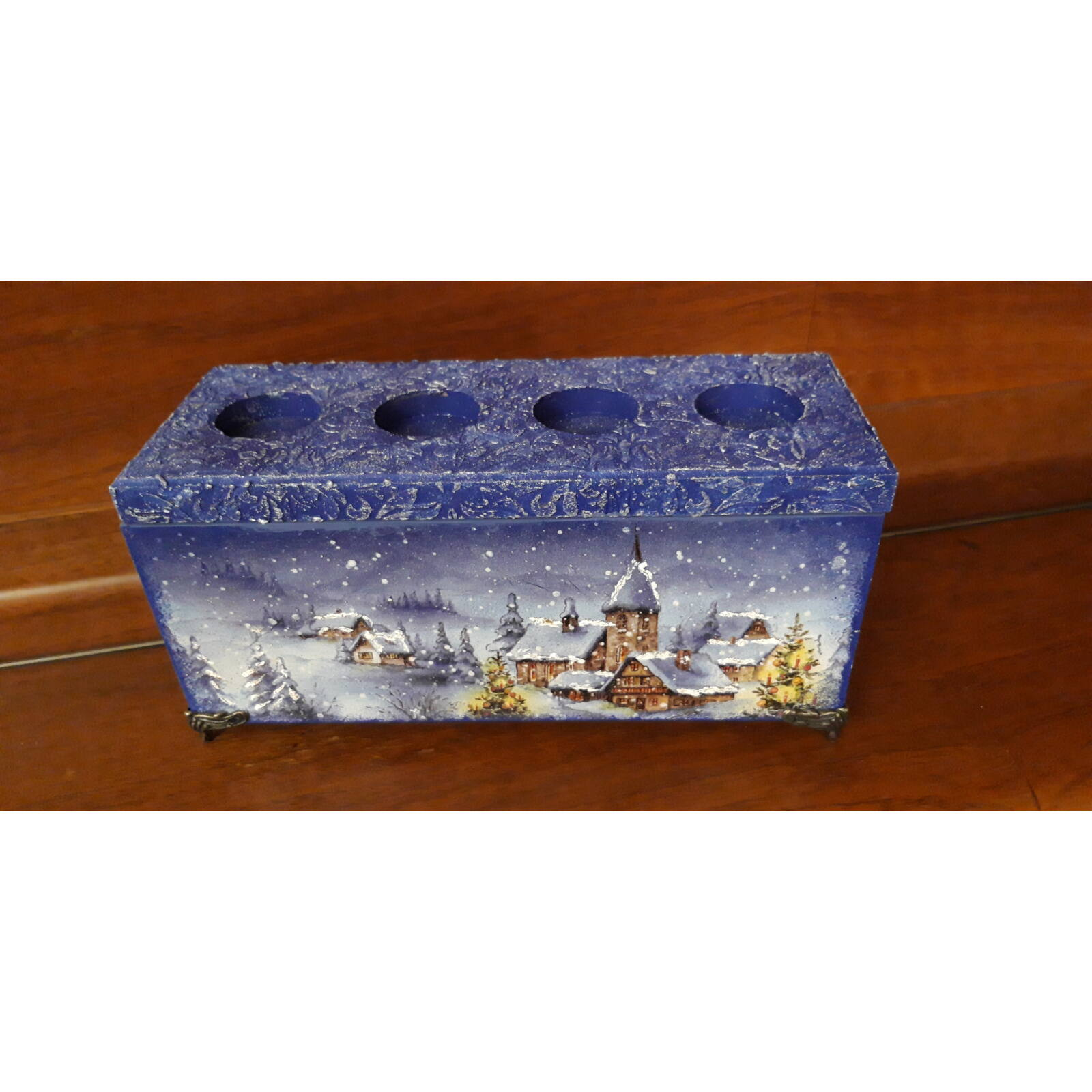 Adventi mécsestartó doboz