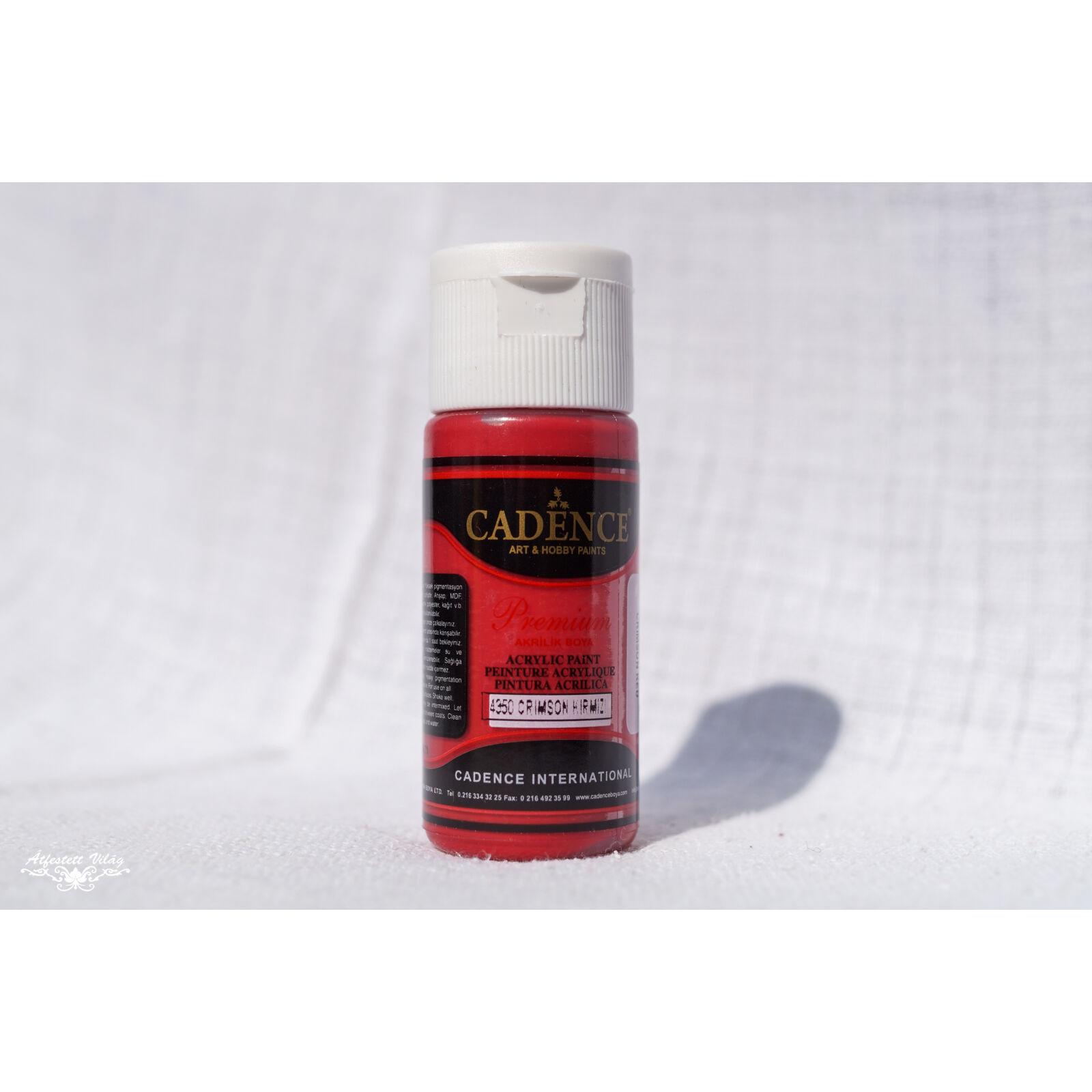 Premium Akrilfesték [Crimson Red] 25 ml