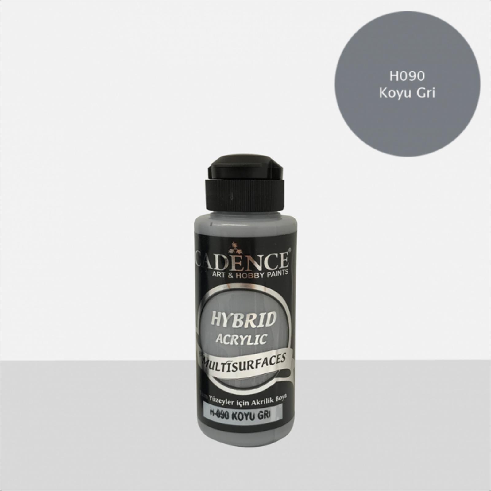 HYBRID Akrilfesték [Dark Gray] 120 ml