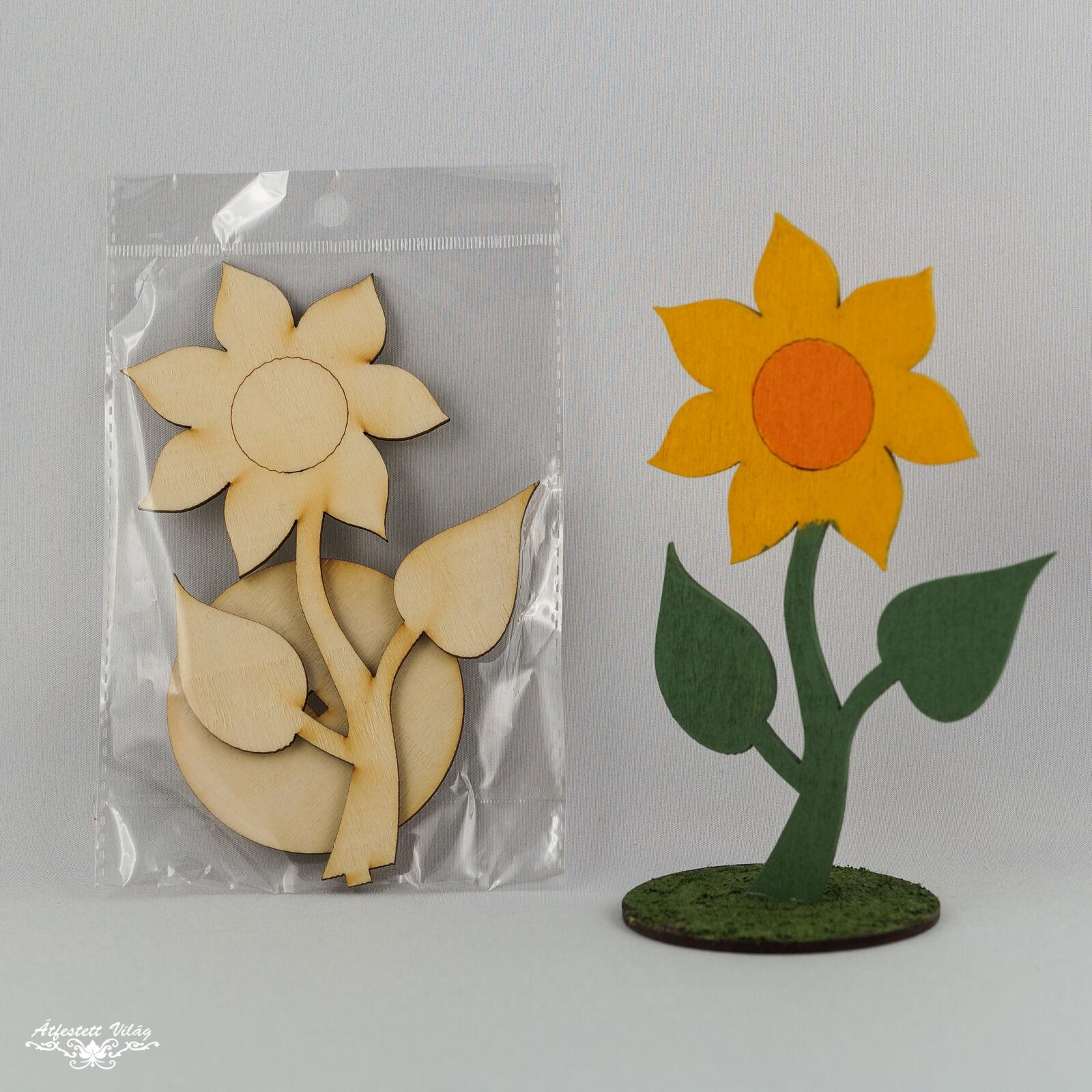 Lézervágott natúr virág