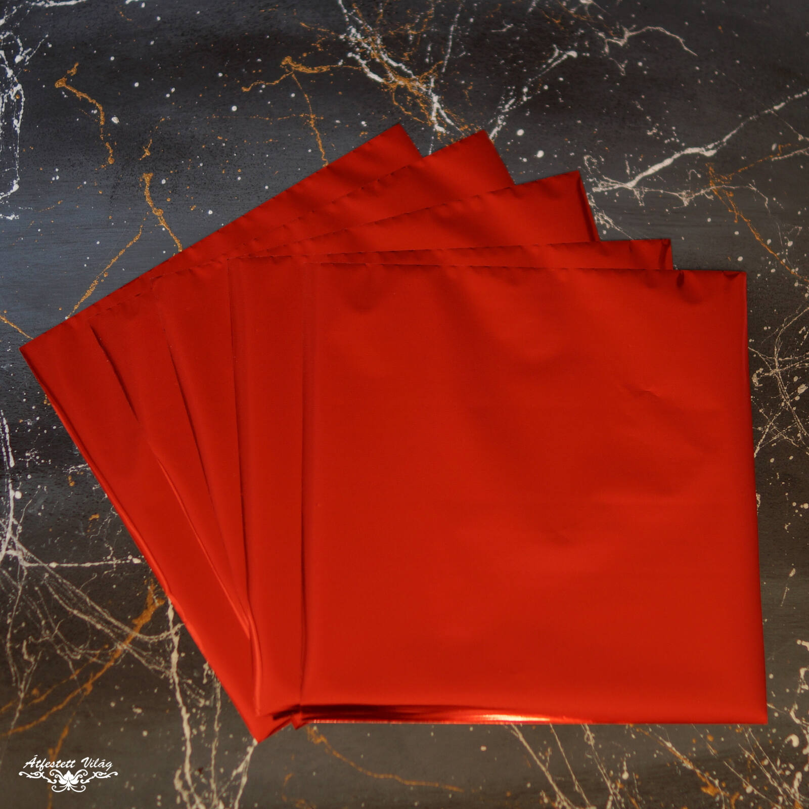Füstfólia lap 1 darab [Piros]