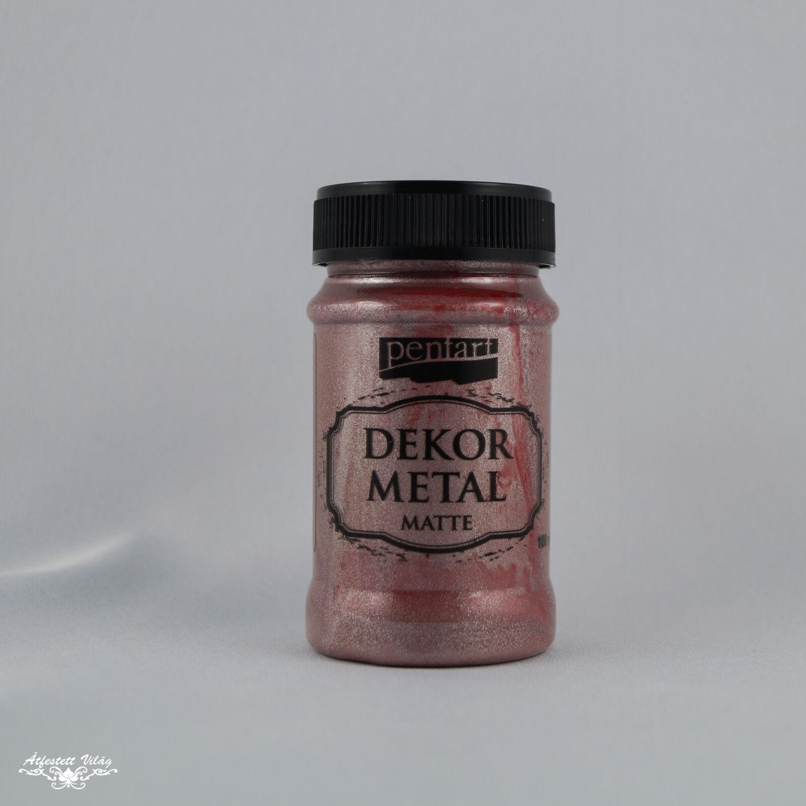Pentart Dekormetál matt rózsaarany [100 ml]