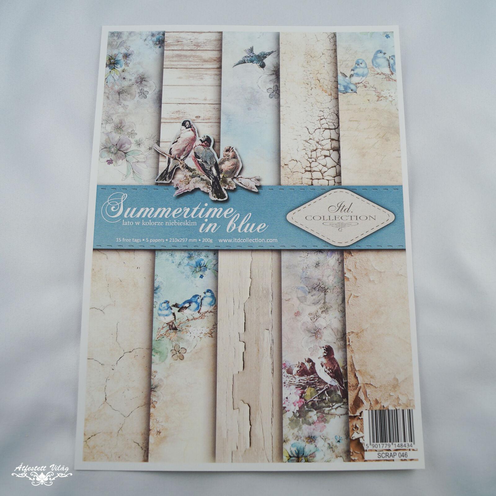 Scrapbook papír szett - Kék nyár [A4]