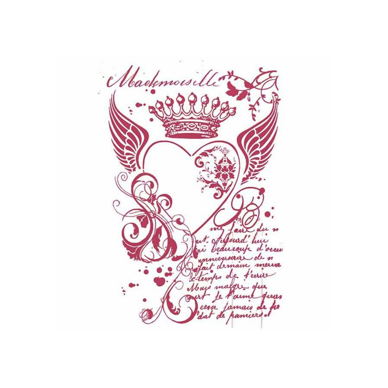 Szív király stencil