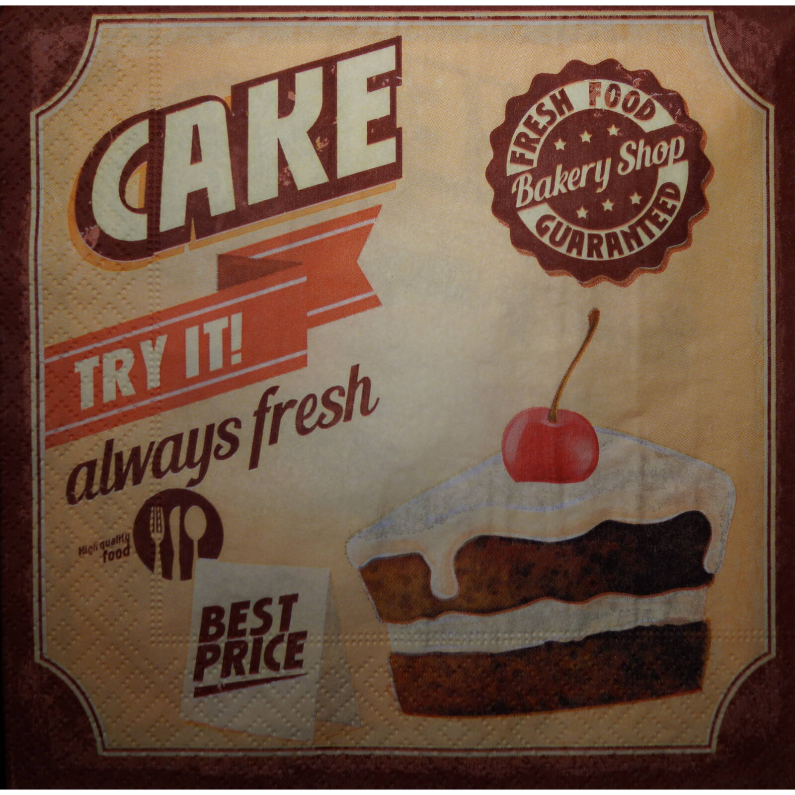 Cake szalvéta