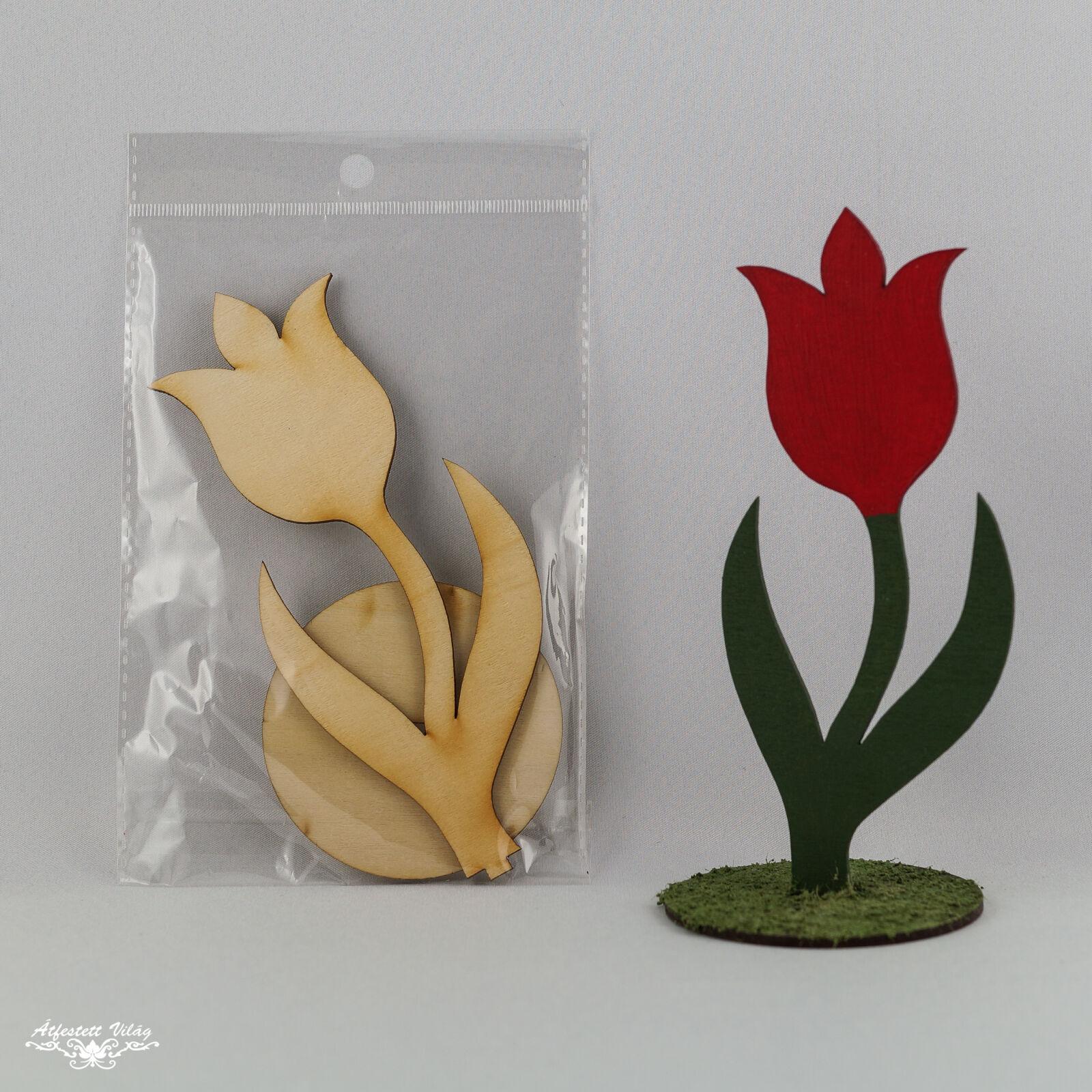 Lézervágott natúr tulipán