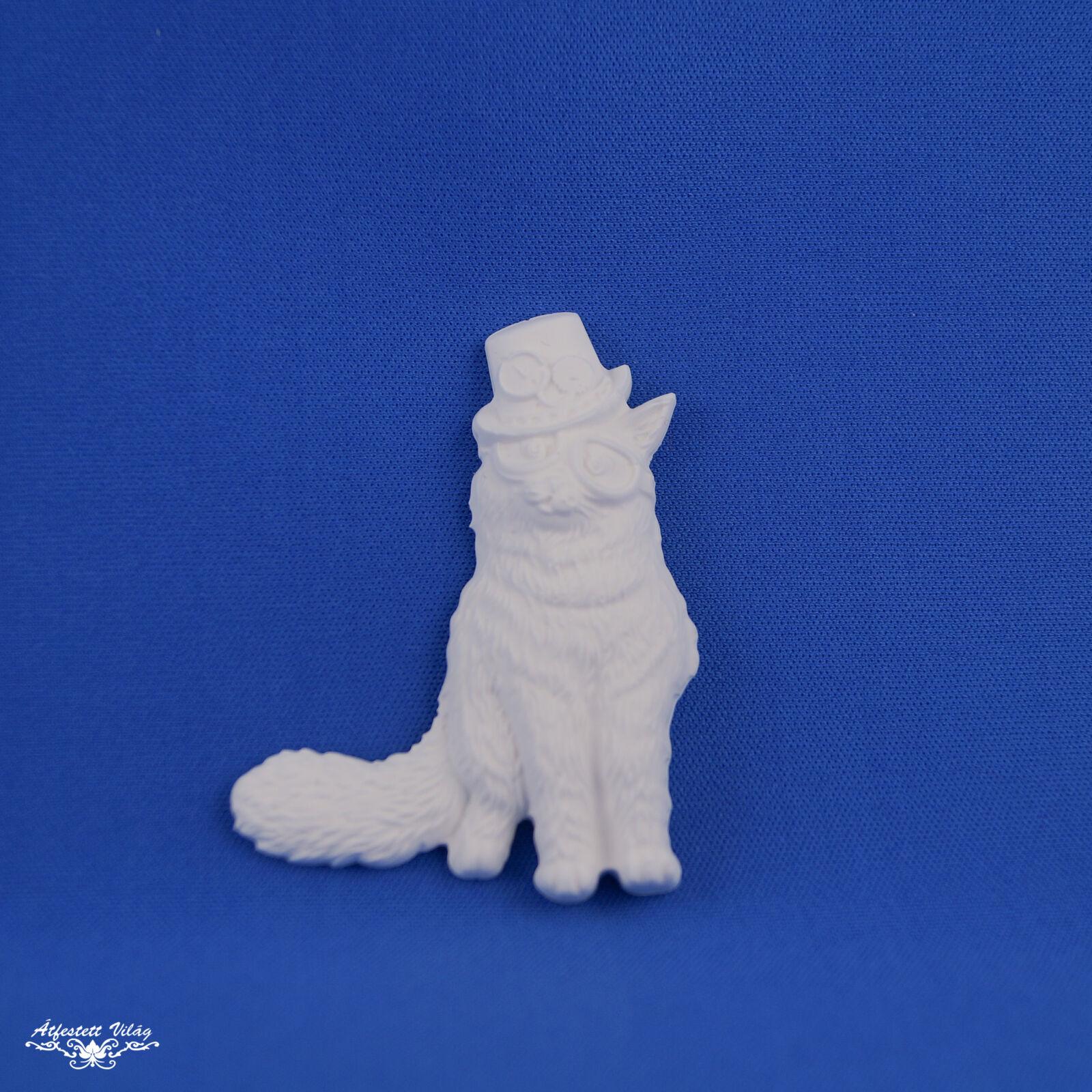 Műgyantapor dísz [macska]