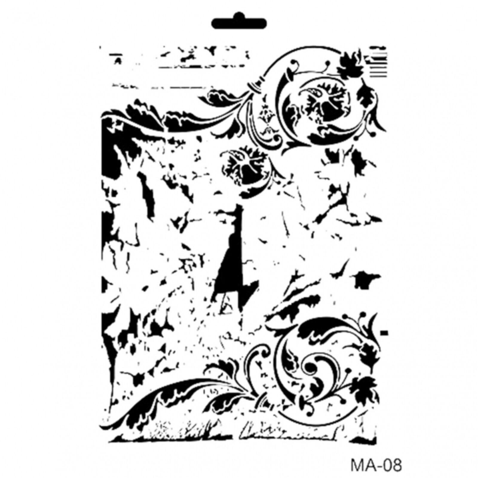 MA08 Mix media stencil