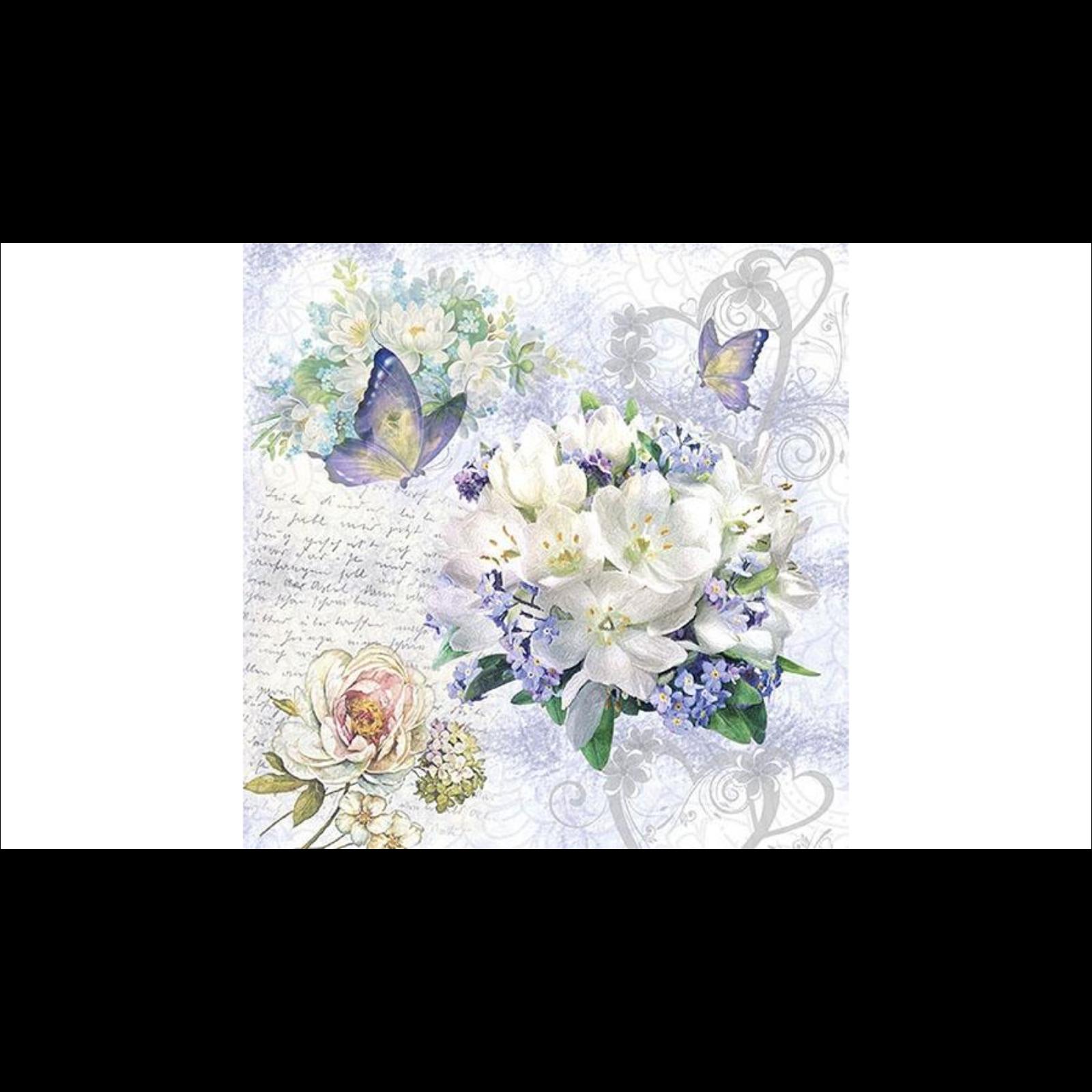 Kék virág szalvéta